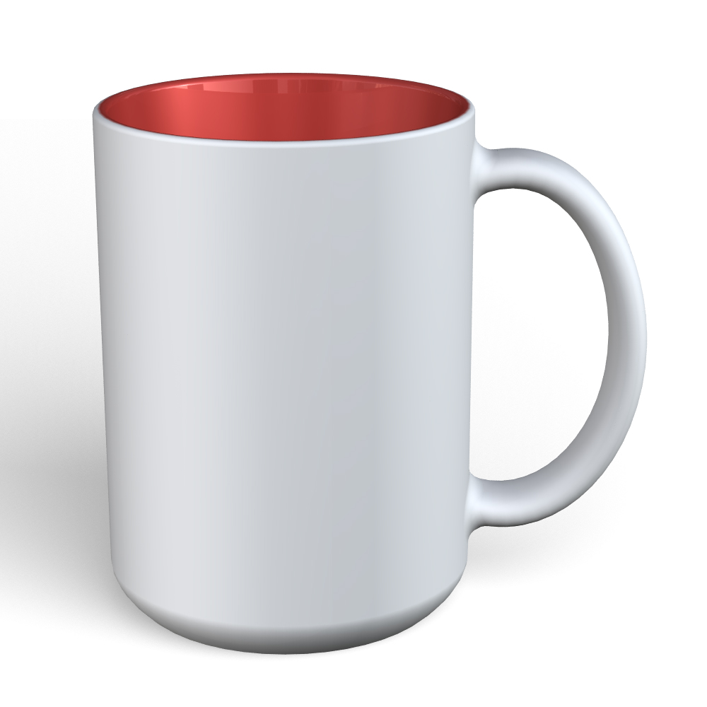 Matte Mug 15oz-White-Red-180C