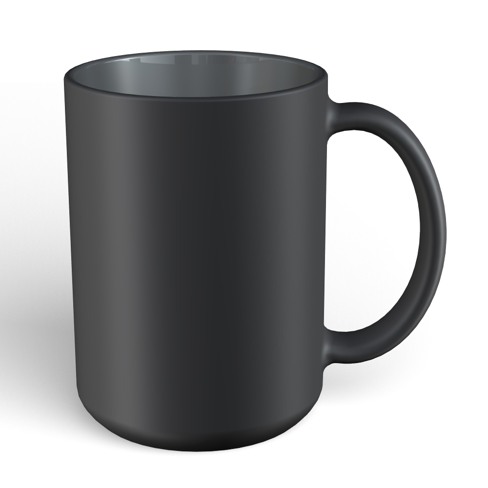 Matte Mug 15oz-Black-Gray 423C