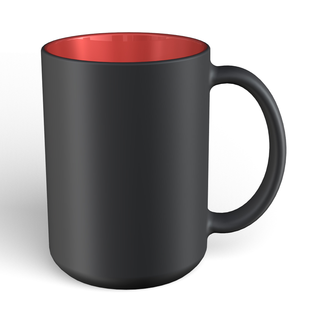 Matte Mug 15oz-Black-Red180C