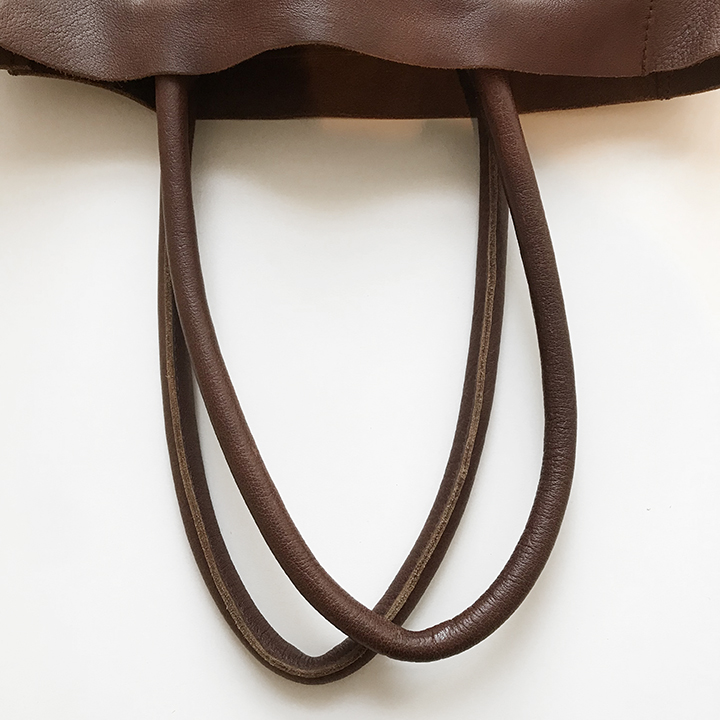 Rolled leather handles