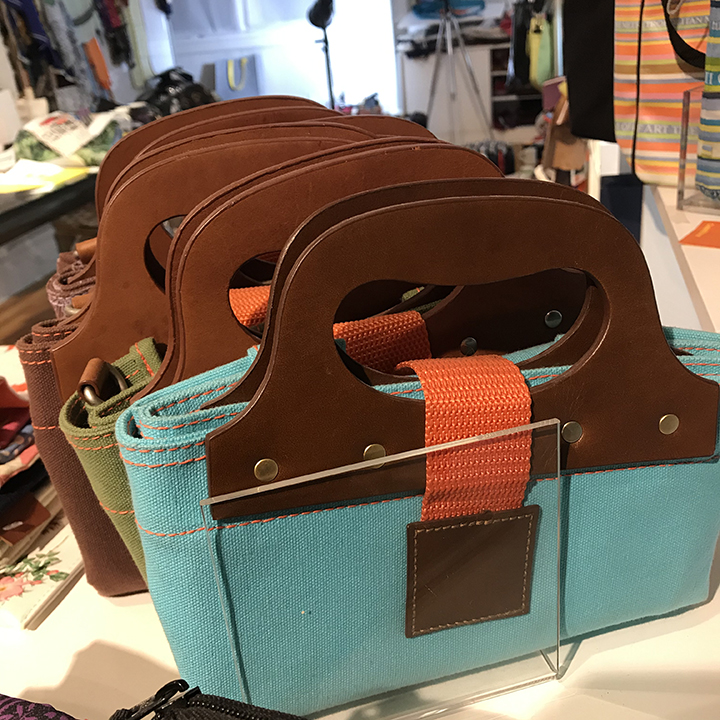 leather handle totes